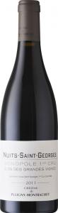 Chateau de Puligny-Montrachet Nuits Saint Georges Clos des Grandes Vignes 2011 Premier Cru vörös Pinot Noir